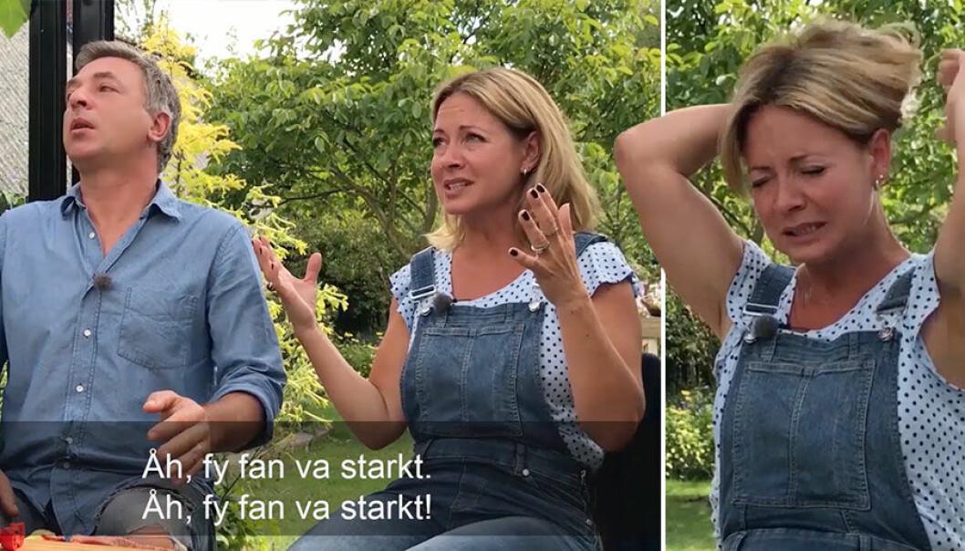 Det blir total panik för Tareq Taylor och Pernilla Månsson Colt efter att de testat en av världens starkaste chilis i Trädgårdstider.