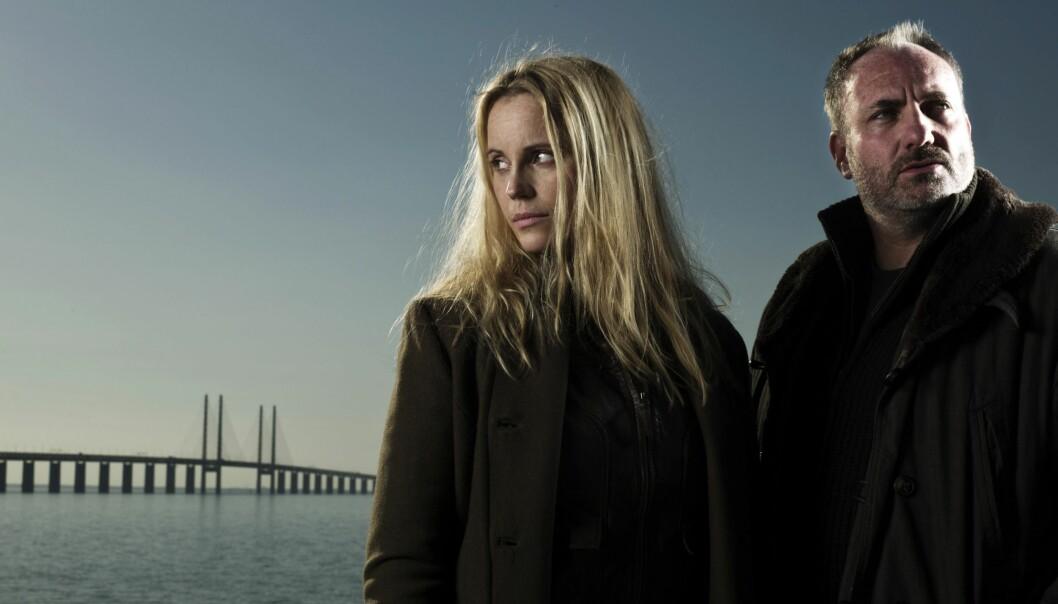 Sofia Helin och Kim Bodnia i tv-serien Bron