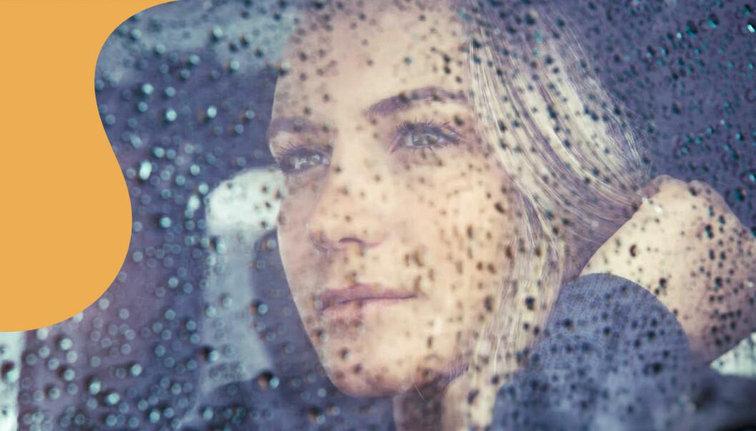 Regn och kvinna
