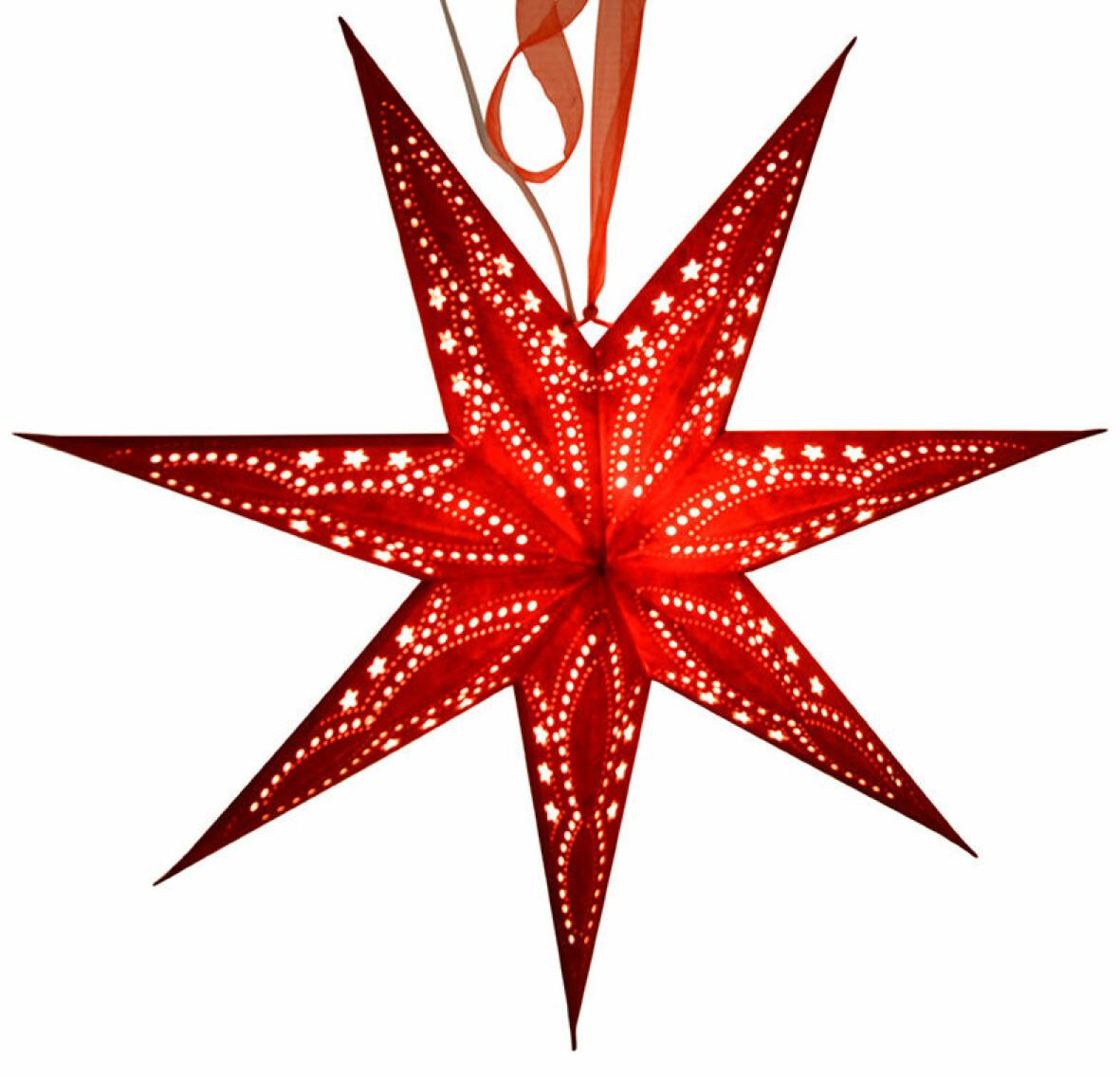 Röd adventsstjärna
