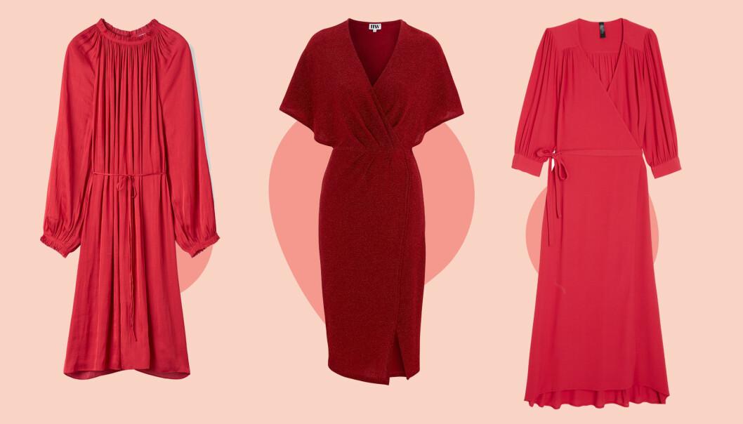 Röda klänningar till jul.