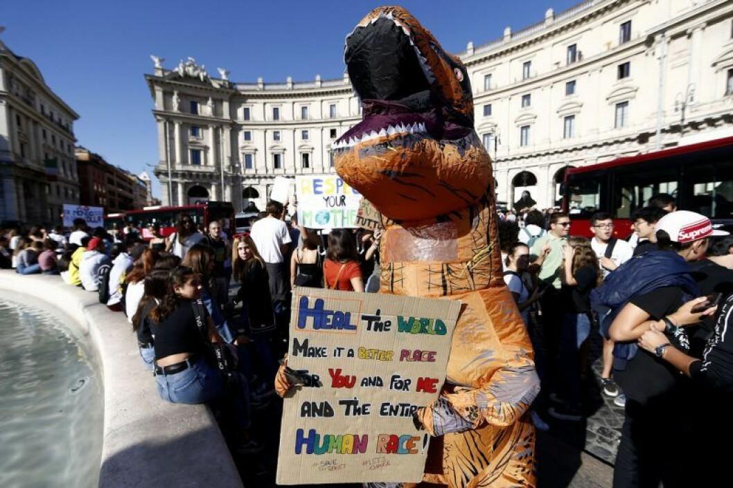 Greta Thunbergs strejk för klimatet ägde bland annat rum i Rom, Italien