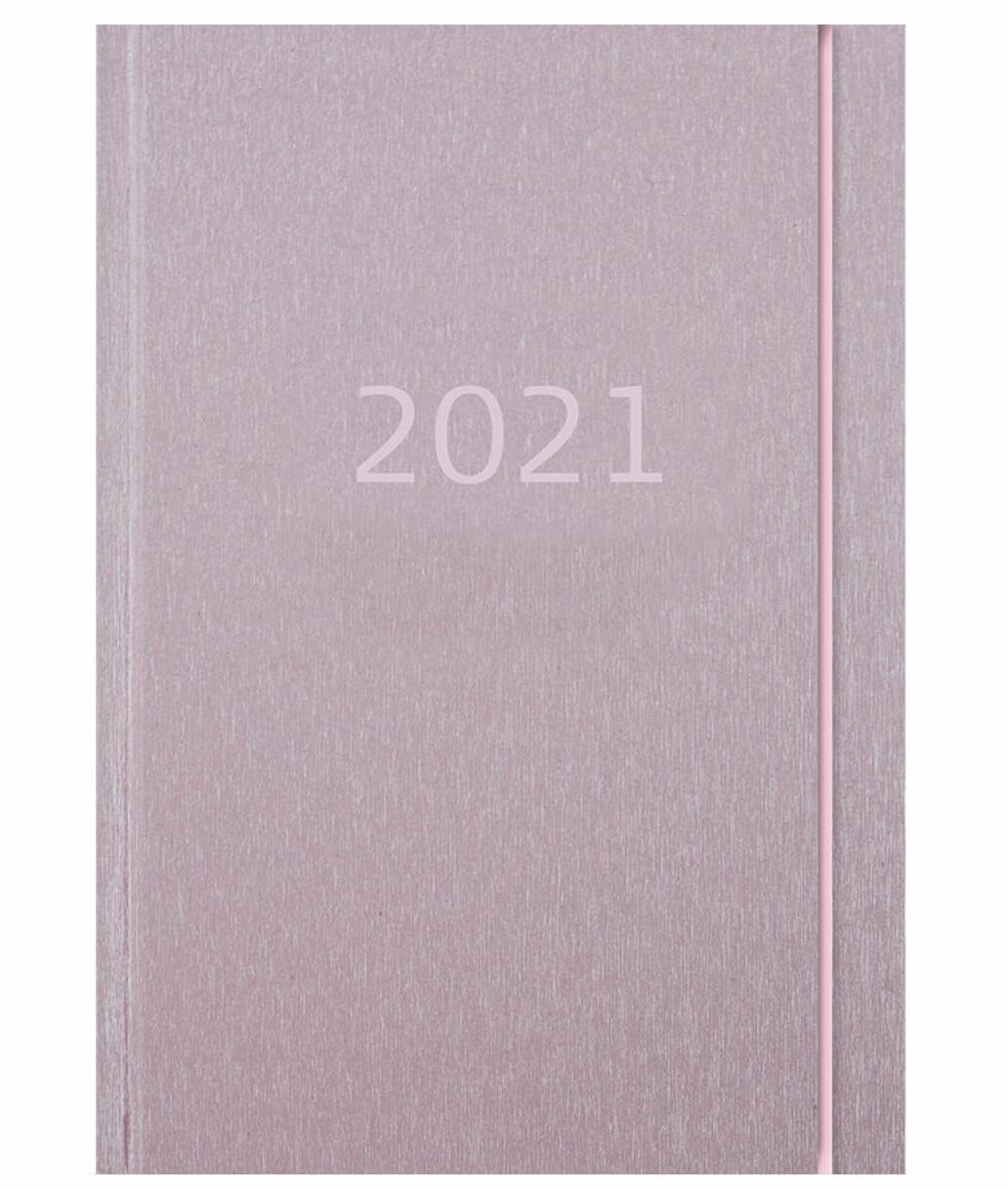 Rosa kalender för 2021.