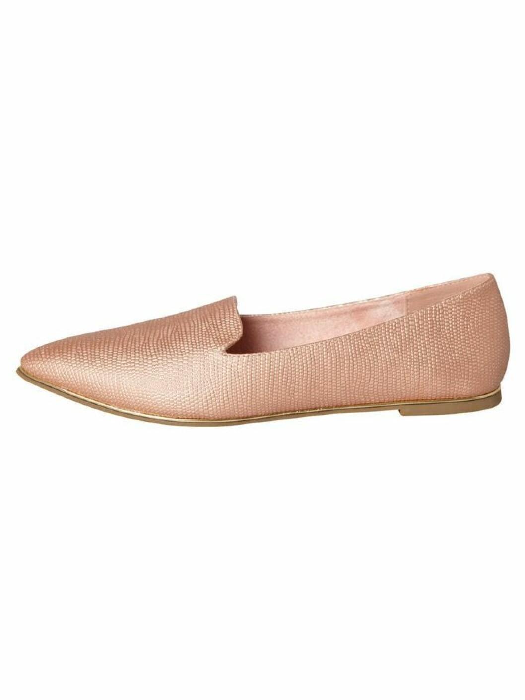 Ljusrosa loafer