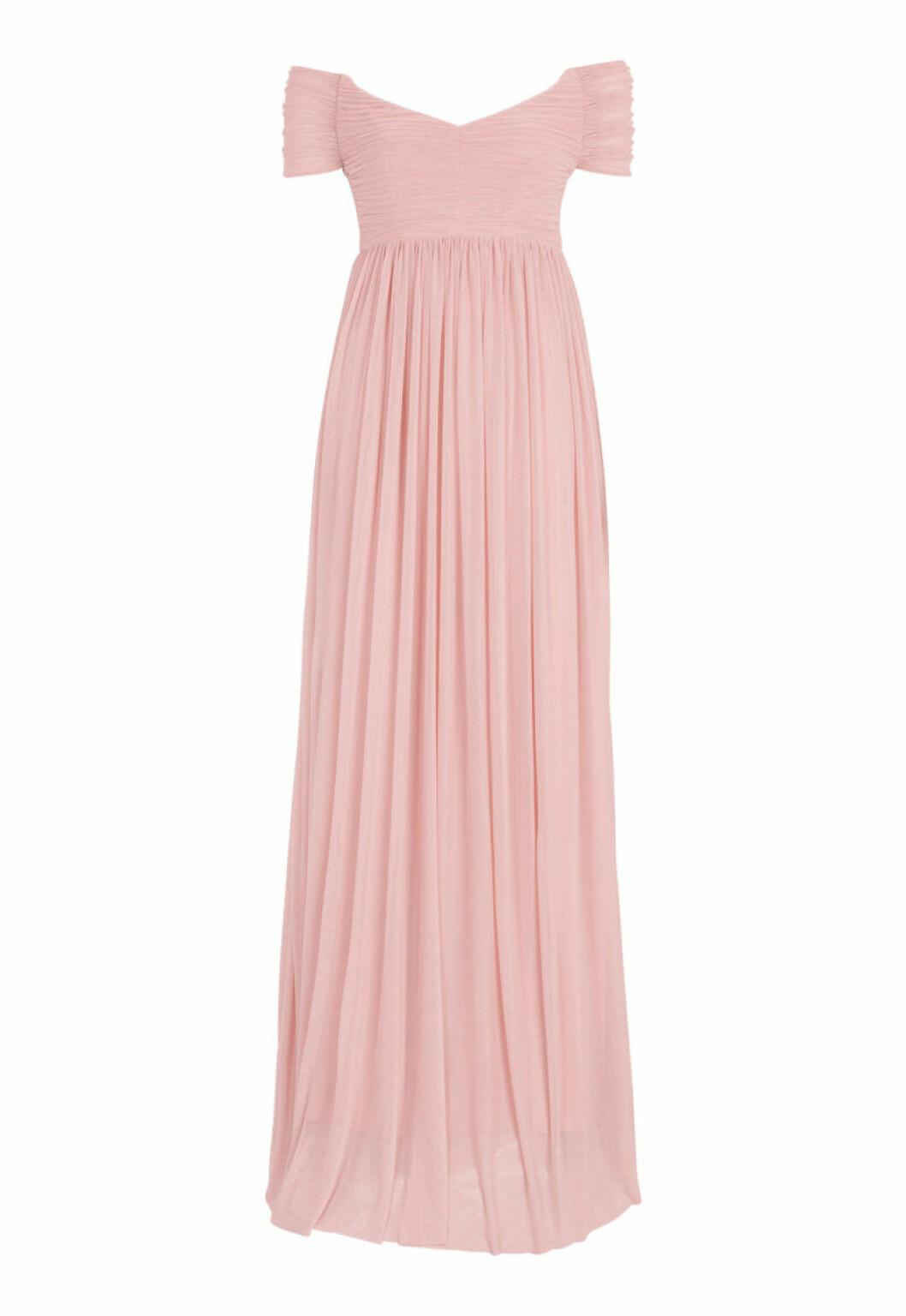 Rosa klänning med off shoulder modell