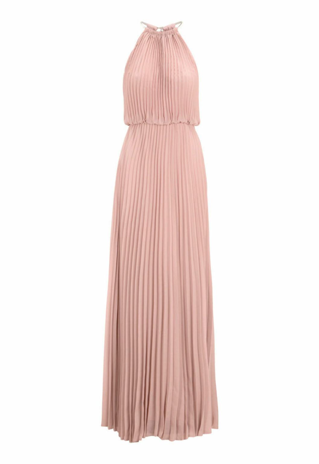 Rosa plisserad klänning