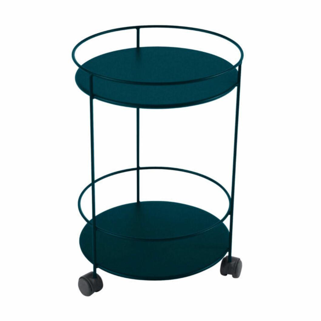 Runt bord med hjul till balkongen