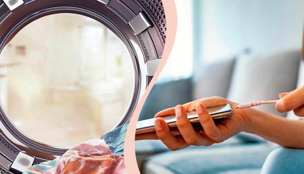 Tvättmaskin och laddare är två av sakerna att hålla extra koll på i hemmet eftersom de båda kan vara orsak till brand.