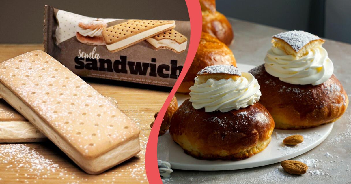 Hemglass släpper ny smak på sandwich – den ska smaka semla.
