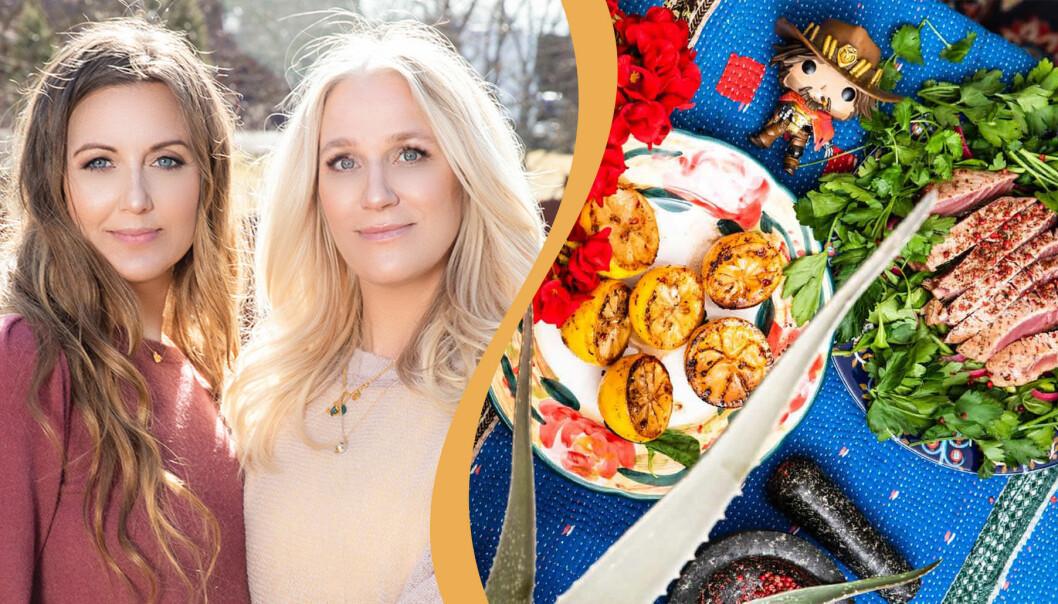 """Sanna Lundell och Ann Söderlund ger ut sin kokbok """"Söndagsmiddag – riddarna runt det operfekta bordet"""" 2019."""