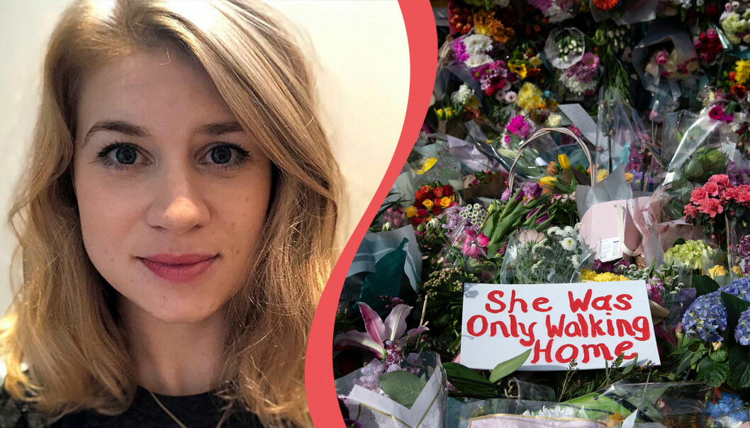 Sarah Everard blev 33 år gammal. När hon gick hem i området Clapham Common i London försvann hon – hon hittades den 10 mars i Kent, England. Nu misstänks en man som är polis för att ha mördat och kidnappat henne. Det har väckt massiva manifestationer i Sarah minne och för att kvinnor ska ha rätt att gå ute själva utan att vara rädda för sina liv. Polisen uppmanade kvinnor att inte gå ensamma i området där Sarah försvann-