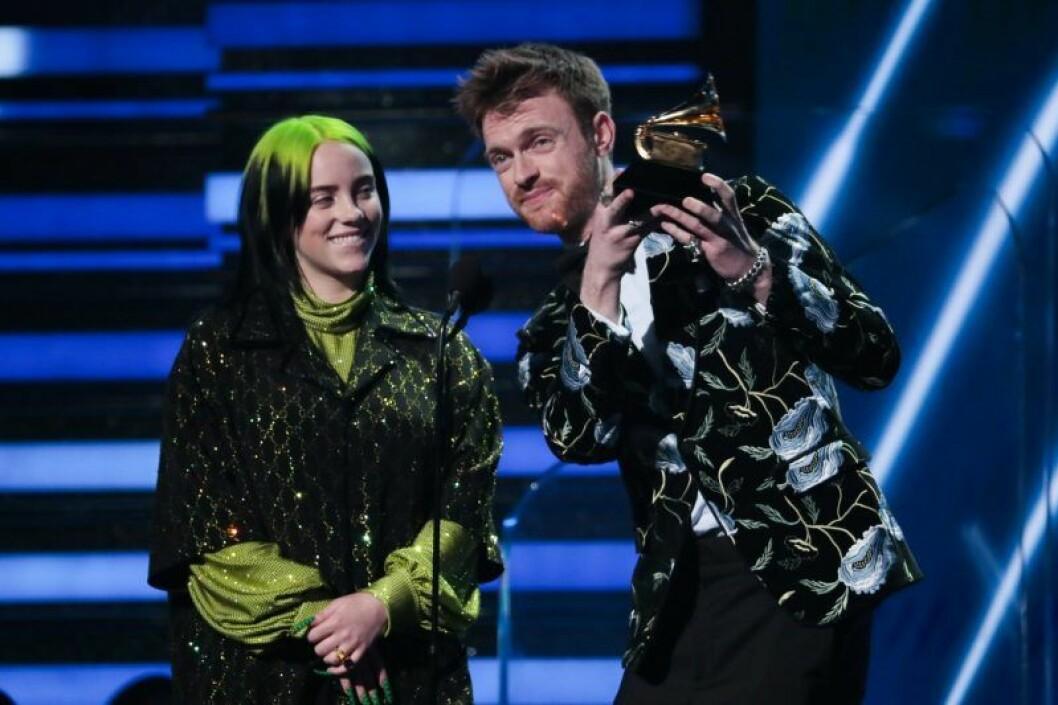 Billie Eilish och Finneas på Grammy Awards 2020.