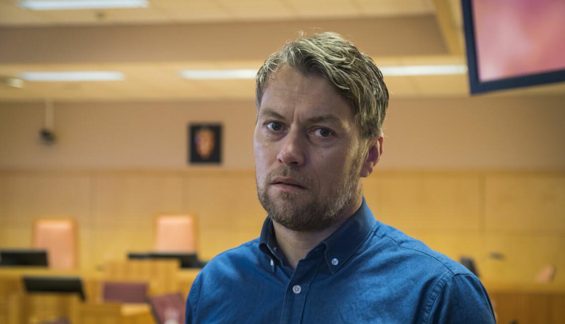 Den mördade Jannes bror Terje Opheim i rättssalen.