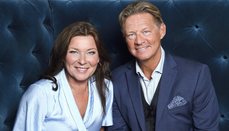 Lotta Engberg och Mikael Sandström, Soldoktorn, på Kristallengalan 2020, Vasateatern, Stockholm.