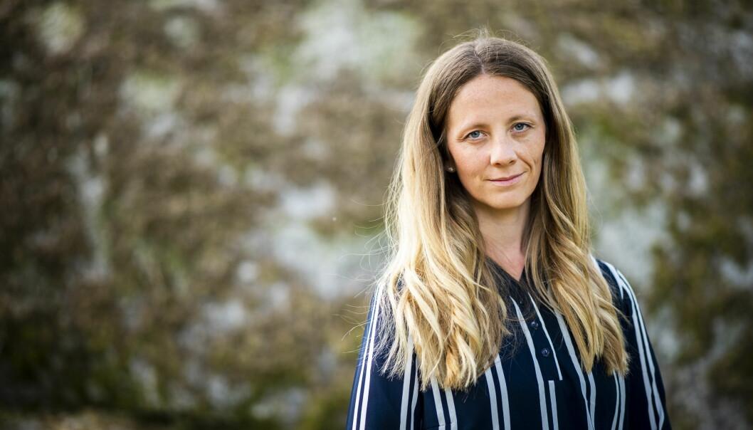 Porträttbild av Mathilda Hofling. Hon har långt ljust hår och blå ögon. Hon ser rakt in i kameran.
