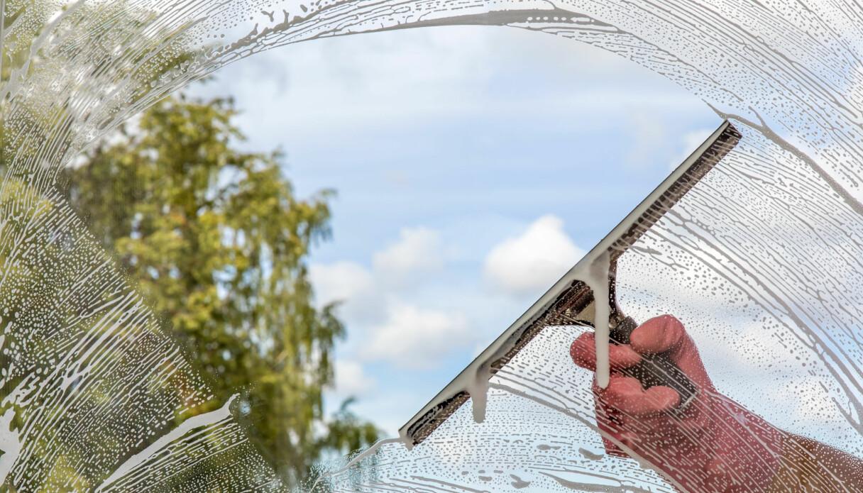 Fönsterskrapa på fönsterruta