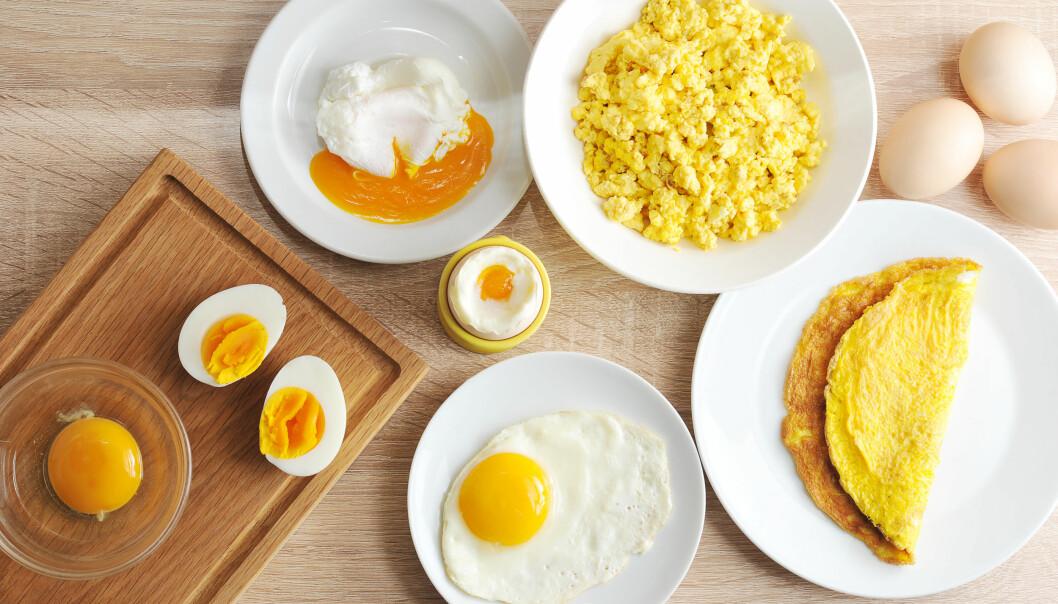 Flera varianter av ägg