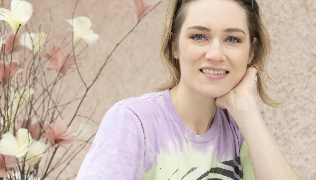 Skådespelaren Disa Östrand som spelar Johanna i tv-serien Lyckoviken.