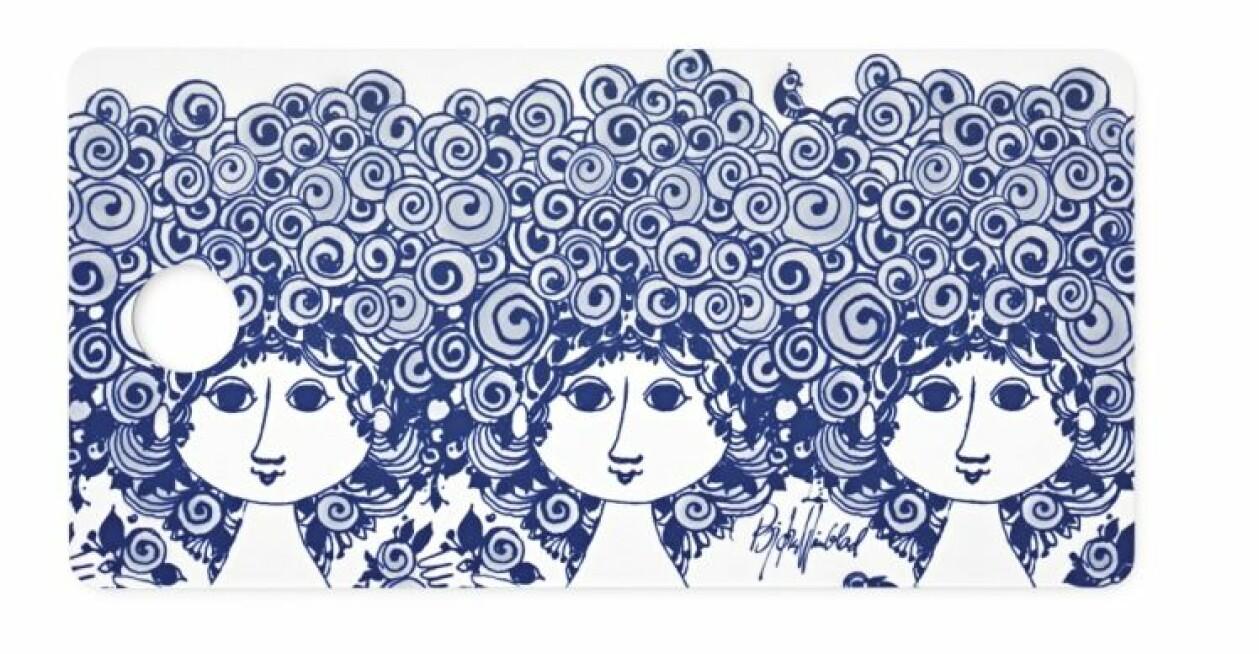 Smörgåsbricka med mönster, från Bjørn Wiinblad