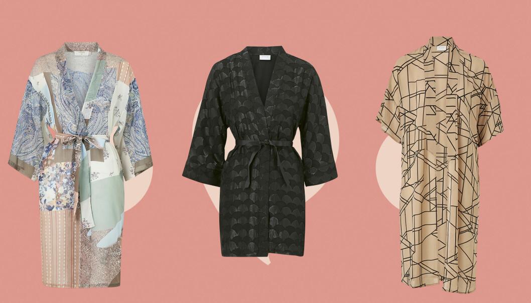 Kimonos i olika mönster.