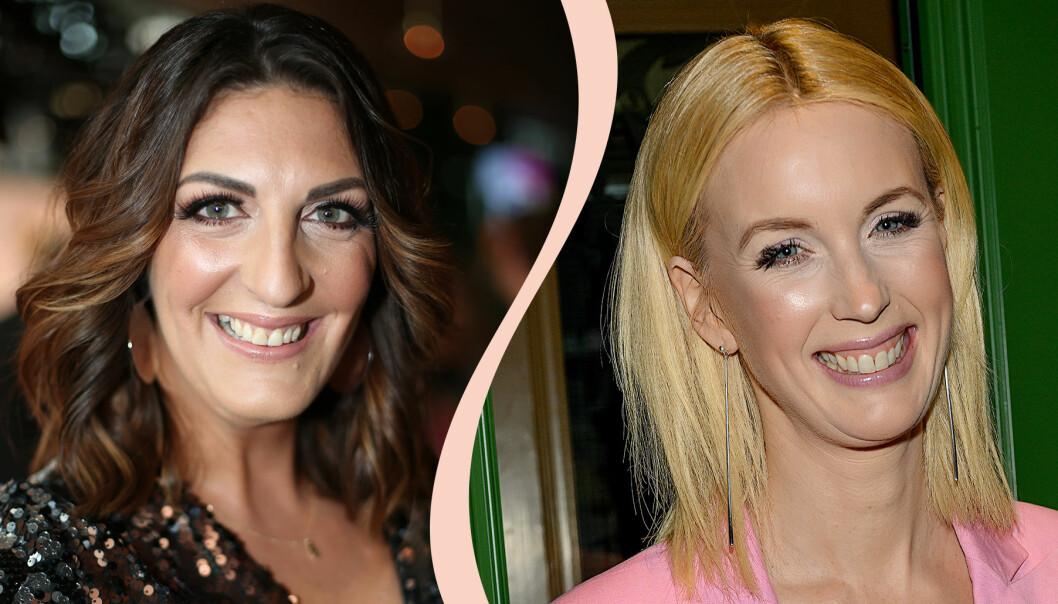 Kollage med Soraya Lavasani och Jenny Strömstedt som båda är programledare i TV4 Nyhetsmorgon.