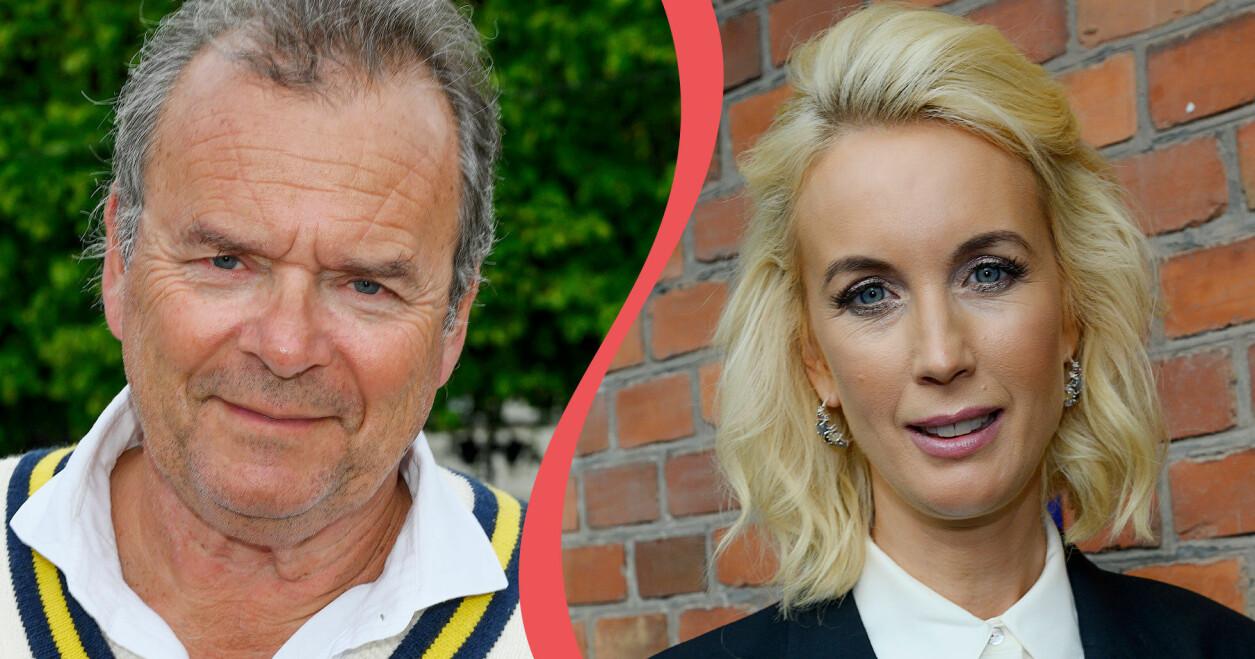 Till vänster: Porträtt av programledaren Steffo Törnquist. Till höger: Porträtt av programledaren Jenny Strömstedt.