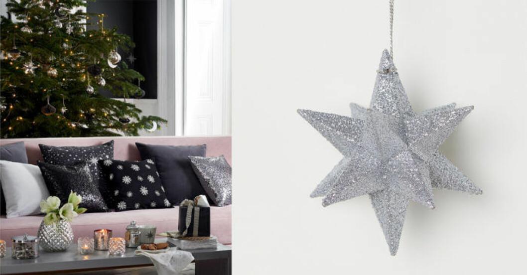 silvrig stjärna till julgran