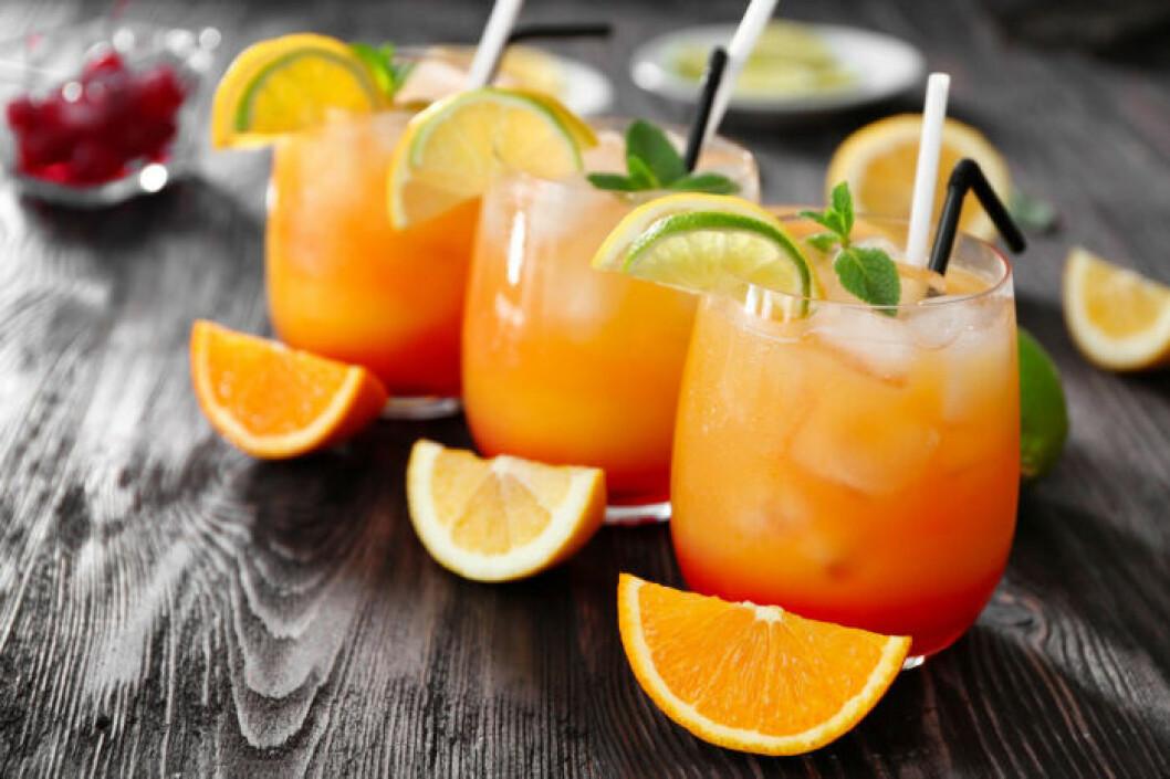 En alkoholfri variant av Tequila Sunrise.