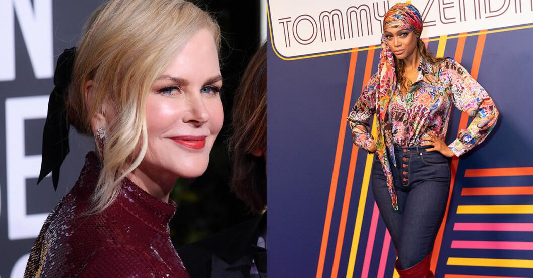 Nicole Kidman och Tyra Banks
