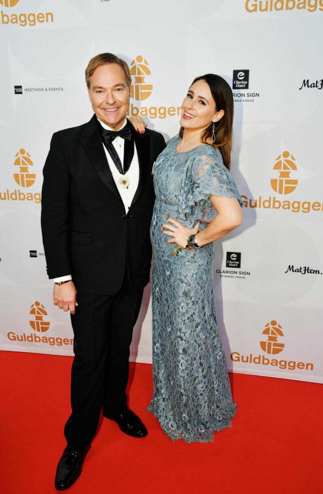 Röda mattan, Svenska Filminstitutets presschef Jan Göransson och Doreen Månsson