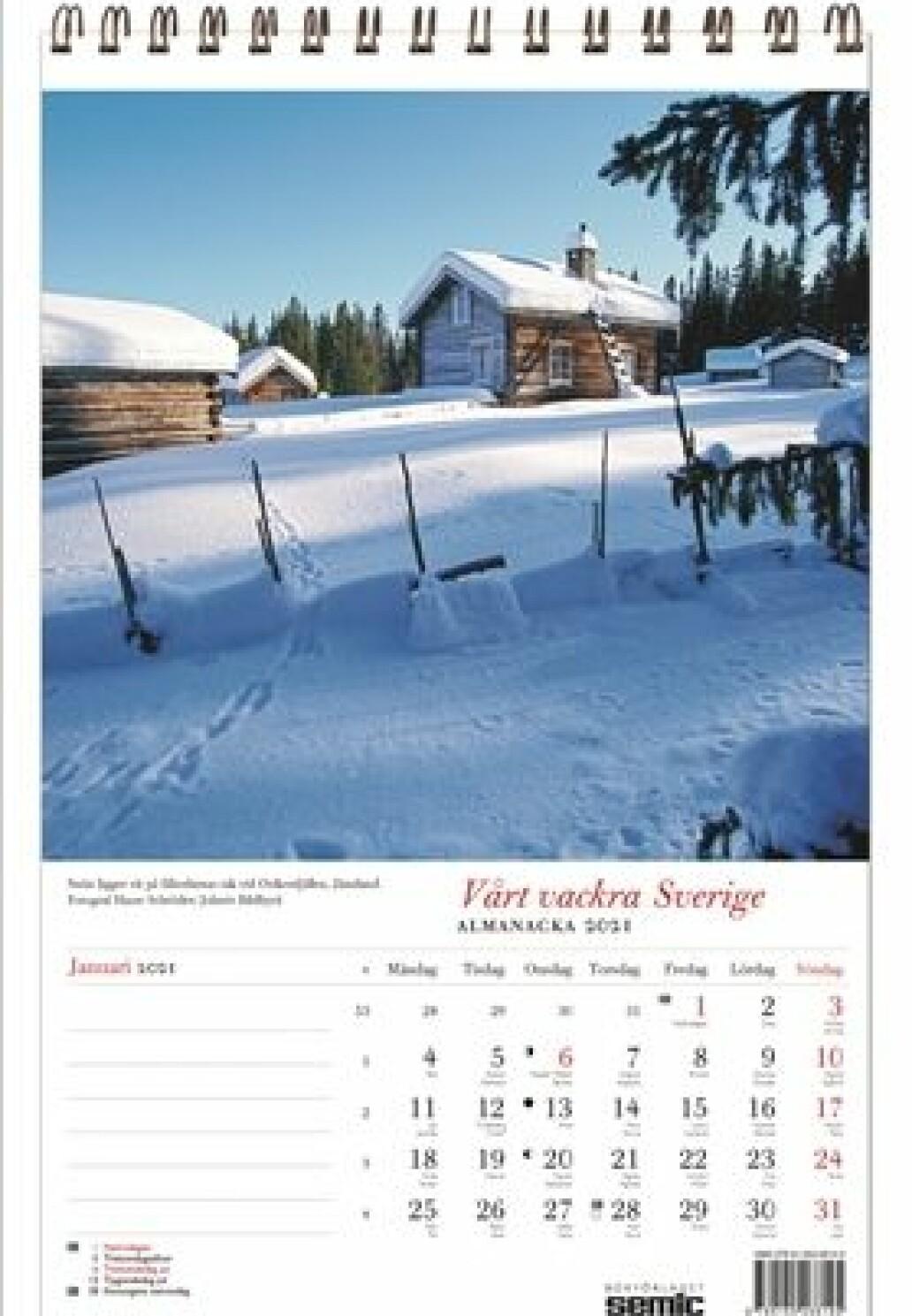 Sverige almanacka 2021