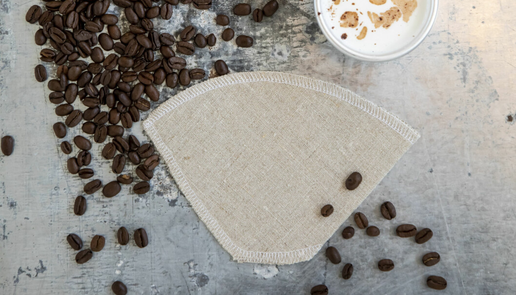 Det är enkelt att sy egna kaffefilter efter vår beskrivning.