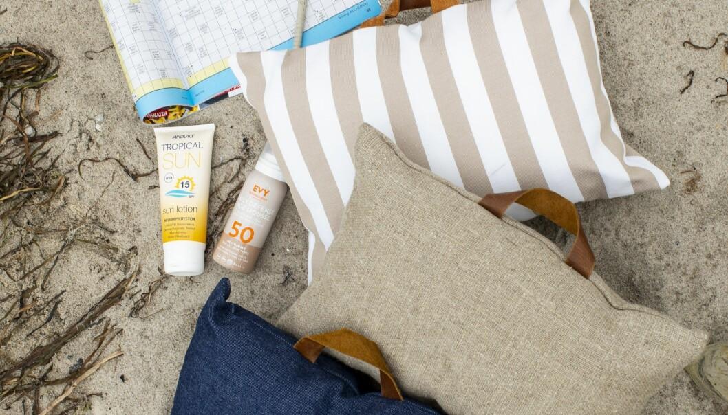 Sy en praktisk kudde till stranden efter vår beskrivning.