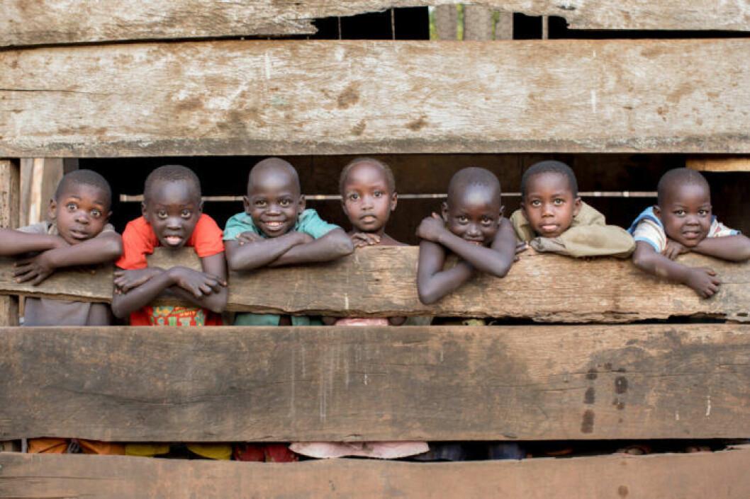 Glada barn i Sydsudan.