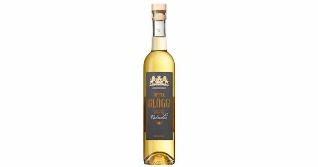 Vinfabrikens Äppelglögg Spetsad med Calvados 15 %, nr 90129-02, 109 kr/50 cl är en vit starkvinsglögg