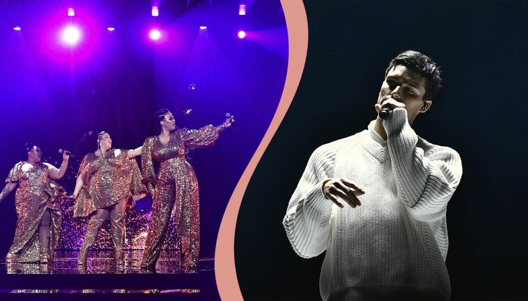 The mamas och Eric Saade i Melodifestivalen