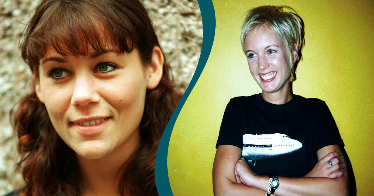 Tilde de Paula Eby och Jenny Strömstedt som unga innan tiden i Nyhetsmorgon.