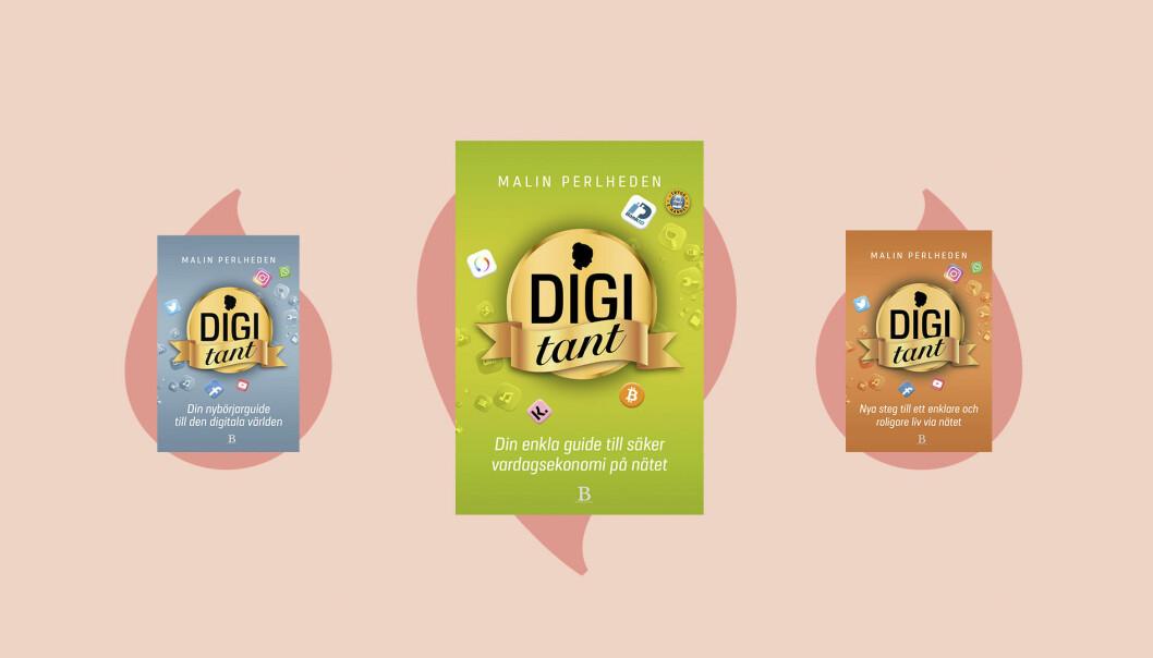 Tre Digitant-böcker av författaren Malin Perlheden.