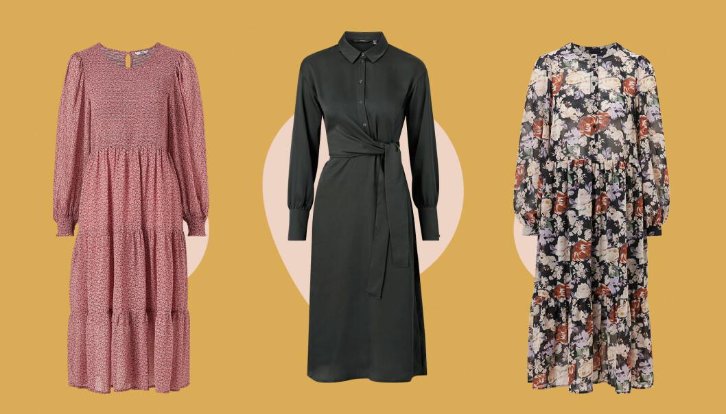Tre klänningar.