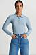 Blå tröja med krage från Gina Tricot.