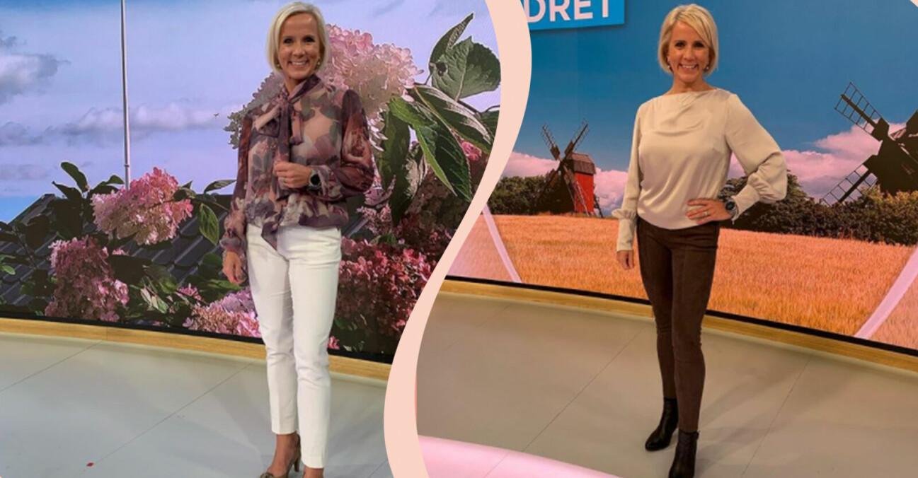 Väder-Ulrika kläder på TV4