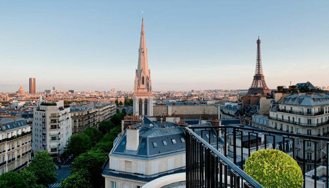 instagram-vänlig utsikt på lyxhotellet Four Seasons George V i Paris