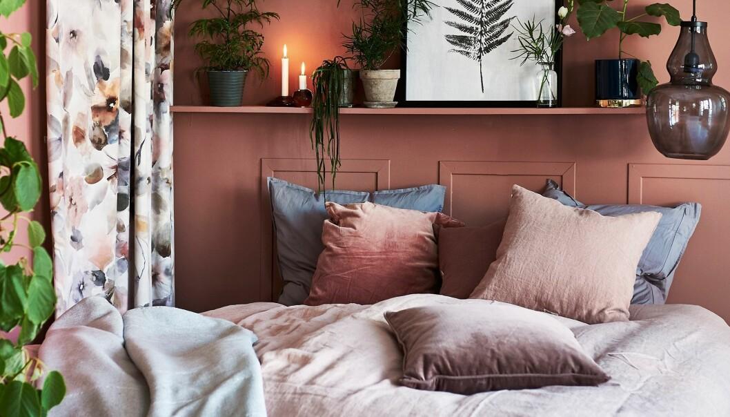 Sovrum i mjuka och mysiga färger