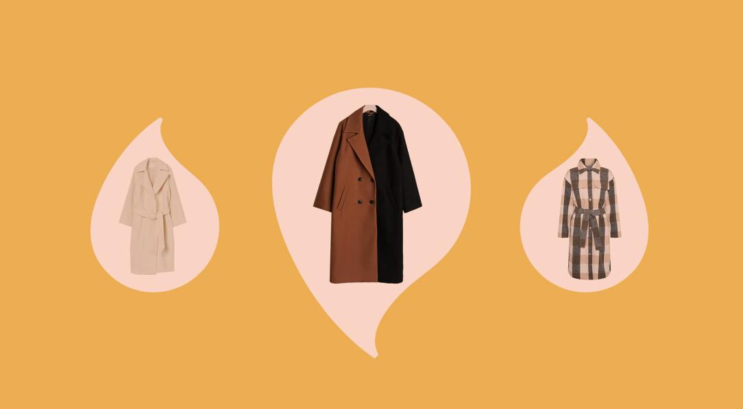 Vårkappor i olika stilar – både korta och långa modeller finns att köpa online.