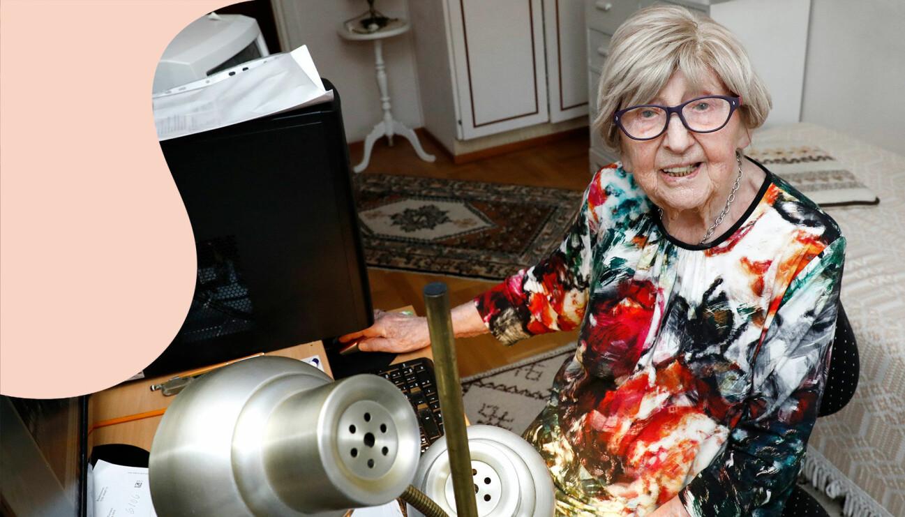 Världens äldsta bloggare, 108-åriga Dagny Carlsson