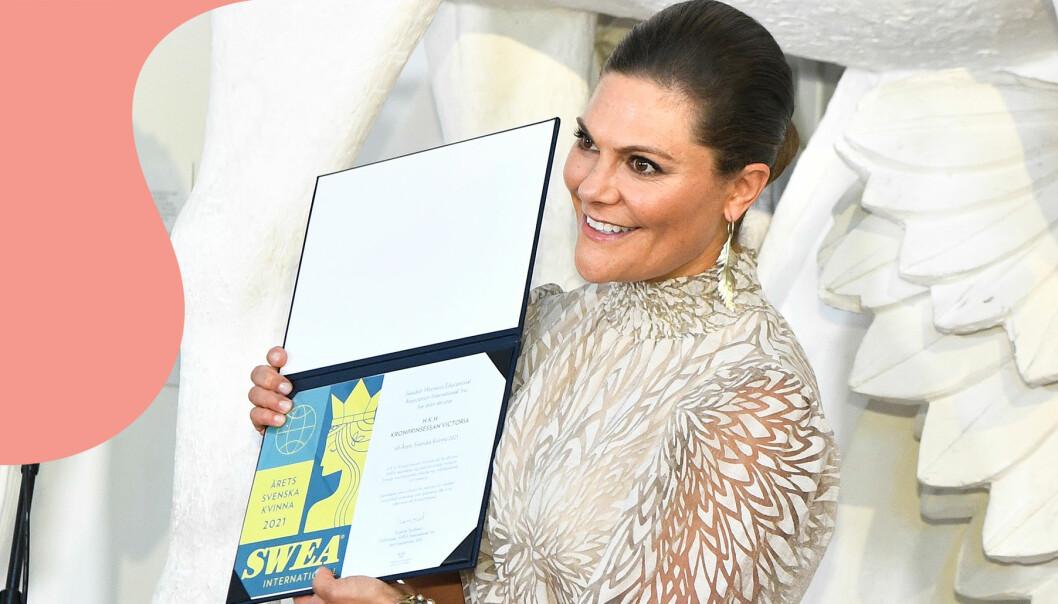 Kronprinsessan Victoria mottog priset som årets svenska kvinna 2021 av föreningen SWEA International.