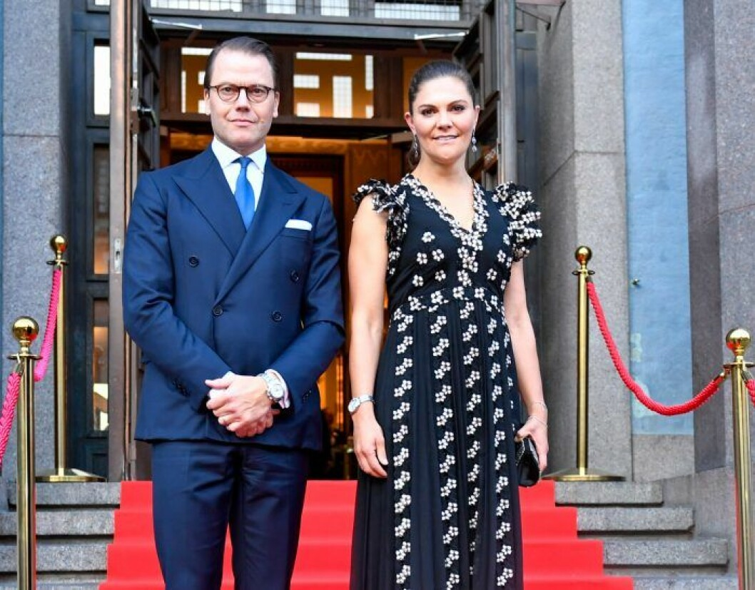 Kronprinsessan Victoria prins Daniel Stockholms konserthus.