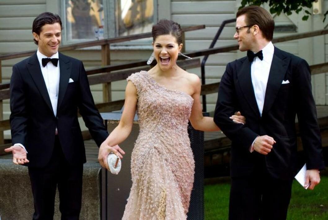 Kronprinsessan Victoria, prins Carl Philip och prins Daniel.