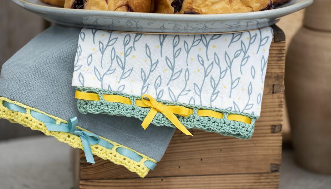 Virka en söt spets att pryda din handduk med
