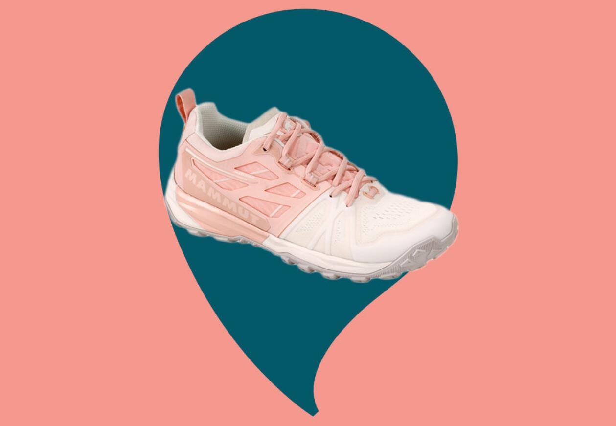 vit-rosa vandringssko kvinnor
